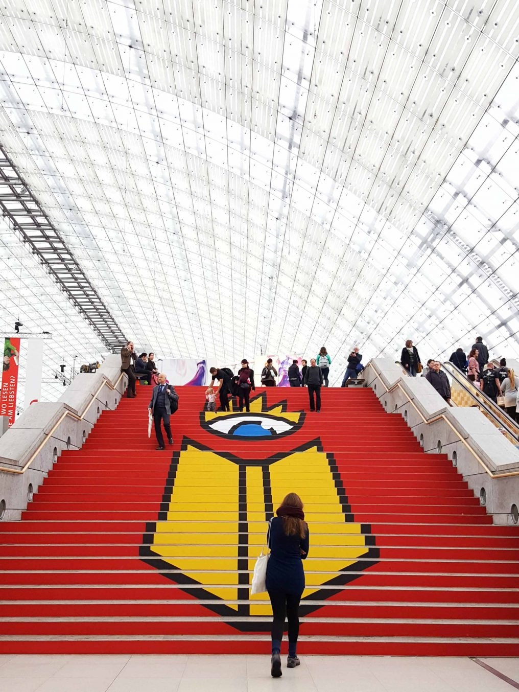 buchmesse staircase